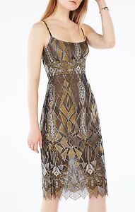 Image Is Loading New Bcbg Max Azria Alese Metallic Geometric Lace