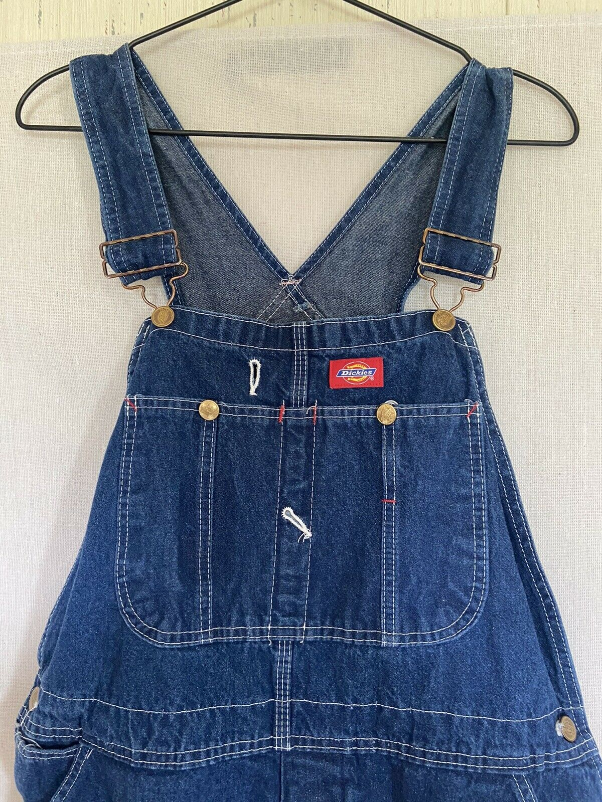 Dickies Denim Overalls Size 38x30 Fit 36x29 - image 2