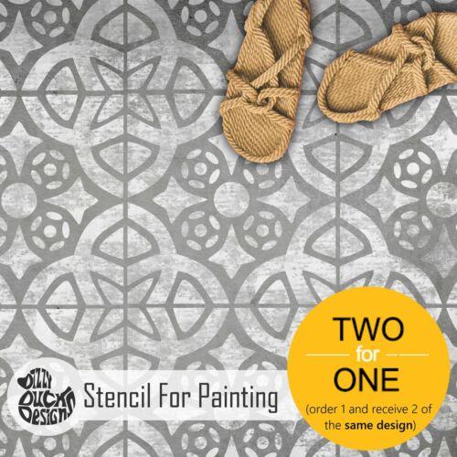 Floor Wall Furniture Stencil for Painting ALMERIA Tile Stencil
