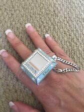 Christian Dior Princess Ring Blue Diamante Bag Charm with Lip Gloss