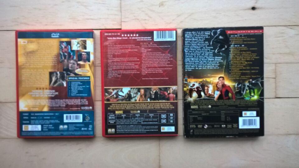 Spiderman 1, 2 og 3, DVD
