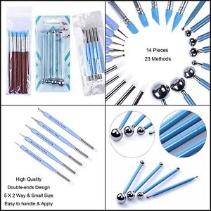 Clay-Sculpting-Tools-Set-Kit-For-Polymer-Modeling-Clays-Dotting-Supplies-14pcs
