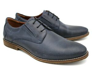 S62 UK 8 MENS BLUE REAL LEATHER CASUAL