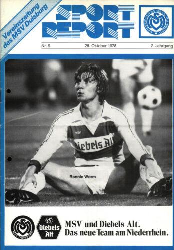 BL 78/79 MSV Duisburg 28.10.1978 FC Nürnberg Ronnie Worm 1