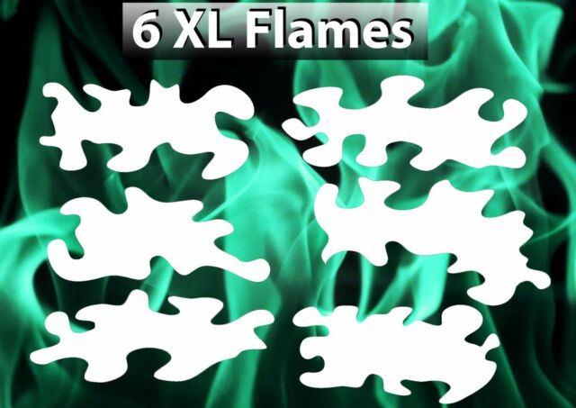 Real Flame True Fire 6 XL Templates Airbrush Stencil Spray Vision Template