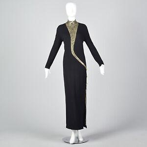 St-John-Evening-Dress-Long-Sleeve-Pencil-Simple-Winter-Knit-Sweater-Formal-1980s