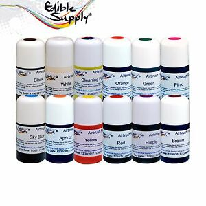 Edible Supply Cake Decorating Airbrush Food Color Combo | eBay