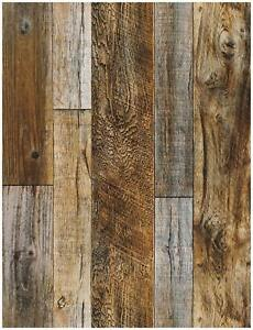 Details About Haokhome 5005 Distressed Faux Wood Plank Wallpaper Rolls Brown Tan Barnwood