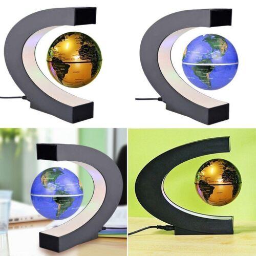 Magnetic Levitation Floating World Globe C Shape Tellurion Night Light Map LED
