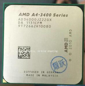 AMD A4-3400 CPU A4-Series dual-core 2.7 GHz 1M Socket FM1 Processors