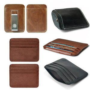 Men-Thin-Wallet-ID-Money-Credit-Card-Slim-Holder-Pocket-Business-Pouch-Leather