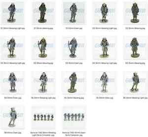 SOLDATINI KINDER METALLFIGUREN FERRERO 40 e 35 mm Samurai 1150 Singoli