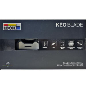 NEW-2018-LOOK-KEO-BLADE-Composite-Pedals-amp-Grey-Cleat-set-BLACK-8Nm