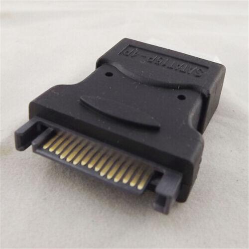 4 Pin Molex PC IDE Female to 15 Pin SATA Male Power Adapter ConvertorRA