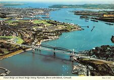 B100905 tamar bridge and  brunel bridge  plymouth devon saltash cornwall  uk