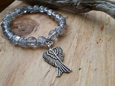 Crystal QUARTZ WINGS Guardian Angel Beaded Bracelet