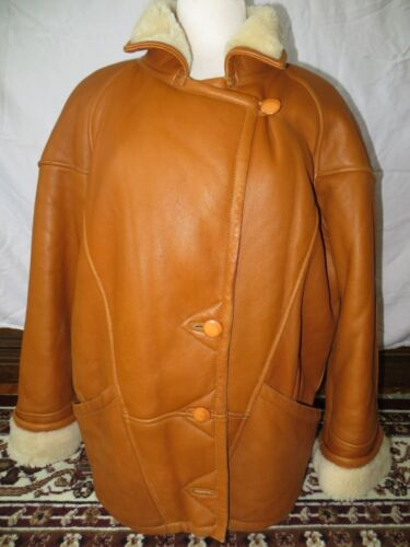Western Ranch Coat Lambskin Shearling 36 Brown Original Leather Jacket Genuine 6pnTx