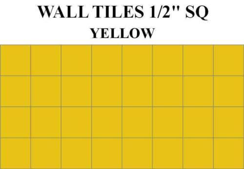 DOLLHOUSE FLOORING,DOLLHOUSE WALL TILES.BATHROOM-KITCHEN HALF INCH SQUARE TILES