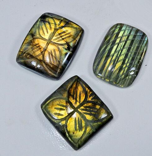 Natural Labradorite Multi Carving Cabochon Mix Shape Loose Gemstone Lot DM763