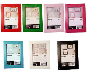 ikea fiskbo bilderrahmen fotorahmen 10x15 cm 13x18 cm 21x30 cm 7 farben neu ebay. Black Bedroom Furniture Sets. Home Design Ideas