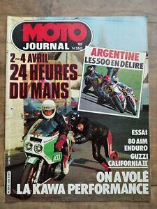 Moto Journal Nº 550 / 1 Avril 1982