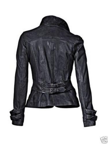Designer ægte Blazer Læder Fit Coat Slim Jacket Lambskin Kvinders dHSqwxZ0q