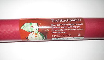 1 Rolle 1mx10m Papier Tischdecke Tischtuch Dunkelrot Geburtstag Dekoration