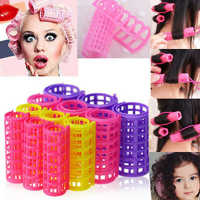 CEAU 12 PCS Curler Roller Large Grip Cling Hair Styling Curler Hairdressing Tool