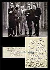 THE BEATLES JOHN LENNON McCARTNEY HARRISON STARR & ED SULLIVAN SIGNED (PRINTED)