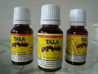 3 X Tala Ant Egg Oil 20 Ml Organic Hair Reduceing