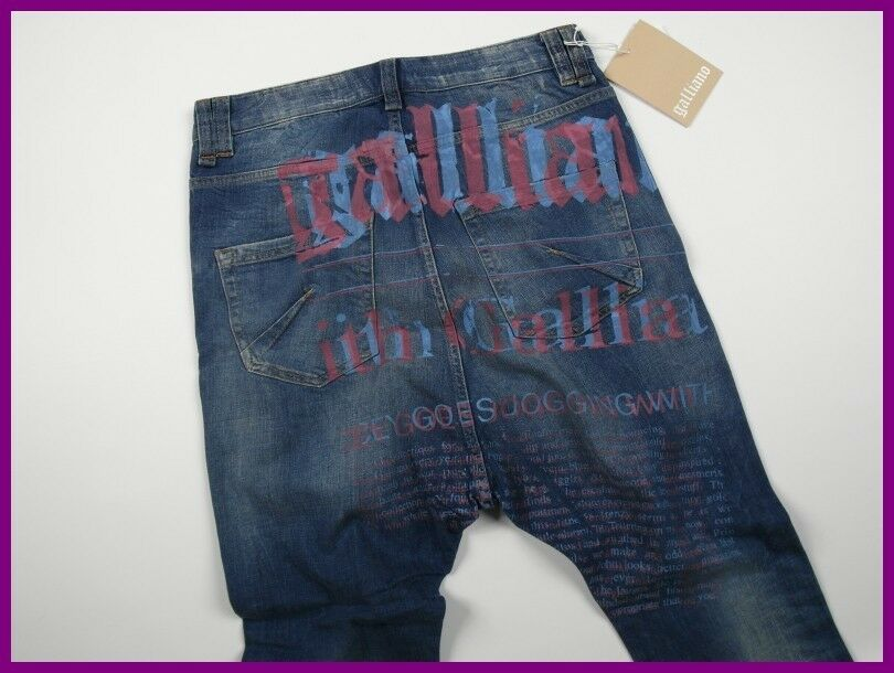BNWT JOHN GALLIANO GALLIANO GALLIANO 32 YR09A 82306 JEANS 30 44 30x25,39 100% AUTHENTIC 2fb