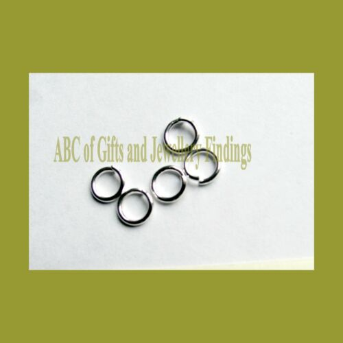 Silver Plated Open Jump Rings x Sizes from 3.5 mm to 12 mm 100 pcs