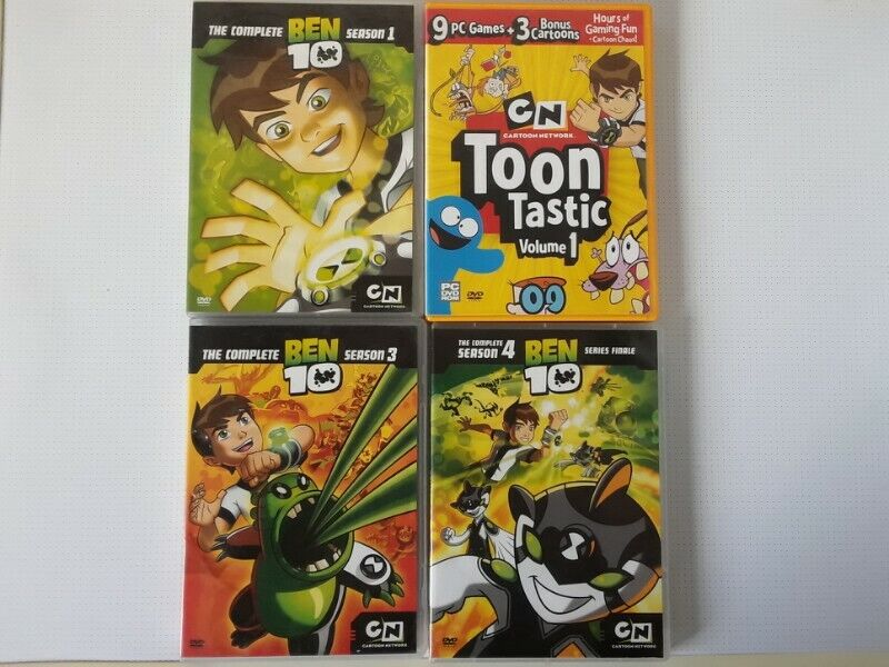 Ben 10 Animated Movies DVD Collection. R60 each .I am in Orange Grove.