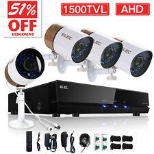 ELEC® 1500TVL Wired Home Security Camera System 8CH 720P 1080N AHD CCTV DVR DIY