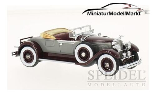 #46520 Neo Packard 640 Custom eight roadster-rojo oscuro//gris 1929-1:43
