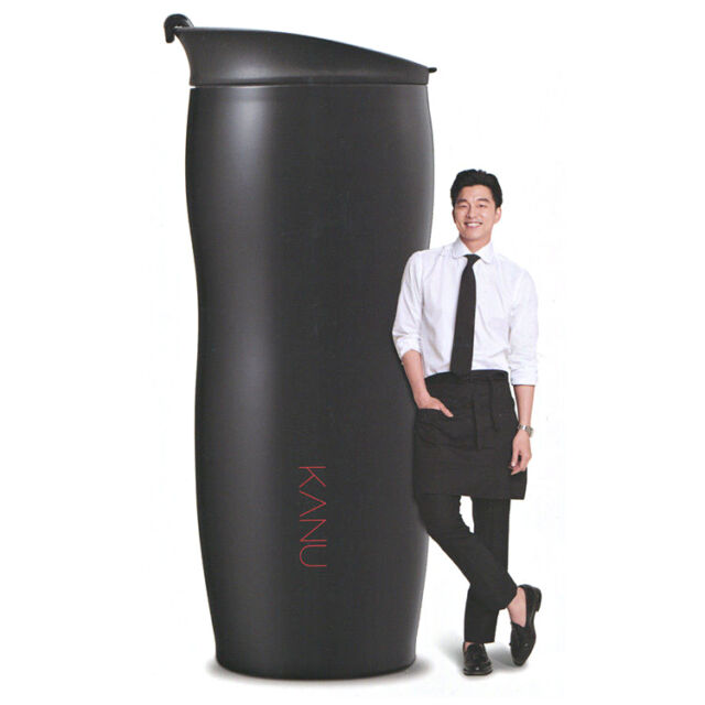 """KANU Black Tumbler Stainless Coffee Cup Thermos Hot&Cold 350mL by """"Gong Yoo"""""""