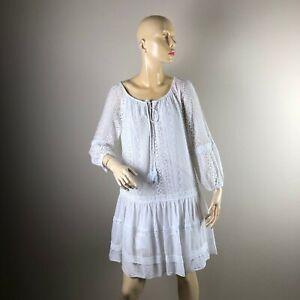Sweet Lover Italy weiß Spitzen Tunika Kleid Carmen ...