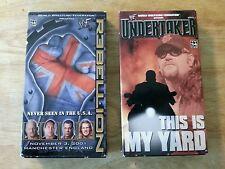 2 Lot VHS WWF Wrestling Rebellion The Rock Undertaker Steve Austin