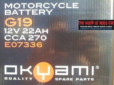 BATTERIA OKYAMI G19 12 V 22 AH BMW R 1100 RT 1993//2001 R 1100 S 1998//2003