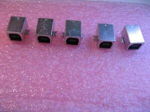 Samtec-USB-B-S-F-B-SM-SMT-Right-Angle-Connector-Receptacle-4-Pin-NOS-Qty-5