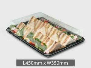 10X-Large-Plastic-Platter-Trays-Buffet-Catering-Party-Food-Sandwich-With-Lids