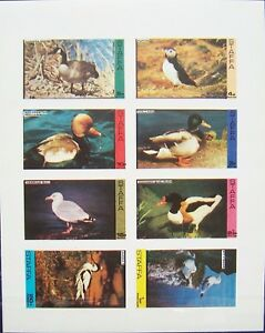 Staffa-1974-Sheet-Water-Birds-MNH-imperforated