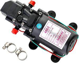 12V 110PSI Water Pump Self Priming Pump Diaphragm Automatic Switch High Pressure