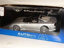 AUTOart Callaway C12 Silver Coupe 1:18 Scale Diecast Metal Model Car 71011