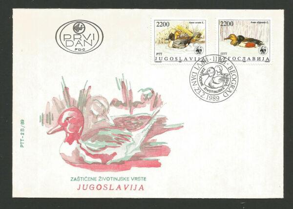 Actif Yugoslavie Prvi Dan Canard 2 Enveloppes Fdc 1989 /fdca582