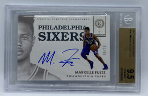2017 18 Encased Markelle Fultz On Card Auto #31/99 BGS 9.5 GEM MINT AUTO 10 RC