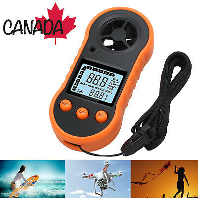 Digital Wind Speed Thermomoter Meter Handheld Anemometer For Surfing Sailing LCD