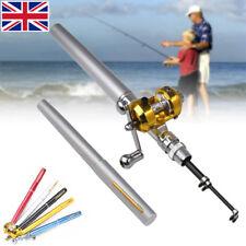 Details about Mini Fishing Rod Bait Telescopic Portable Pocket Aluminum Alloy Pen Pole Reel US