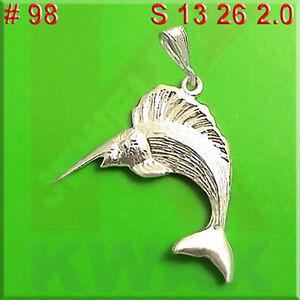 STERLING SILVER 3D Sword Fish Charm for Charm Bracelet