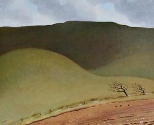 Fine-Jonathan-Armigel-Wade-Original-Oil-Painting-Rural-Landscape-Downland